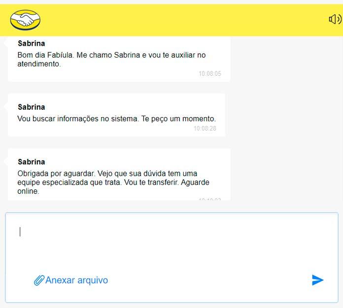 Chat Mercado Envios