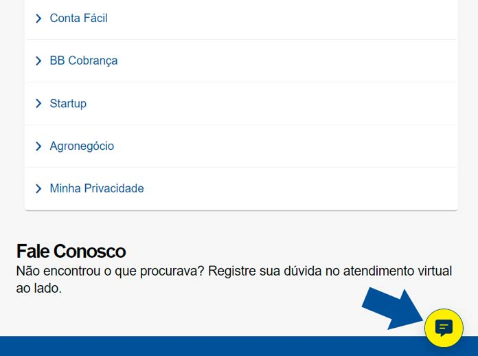 Chat Banco do Brasil